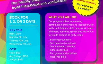 Karate Camp Holiday Program
